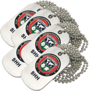 SHH SEAL DOG TAG - SET OF 5