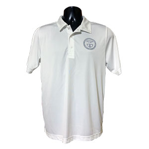 POLO IN WHITE WITH GRAY SHH LOGO